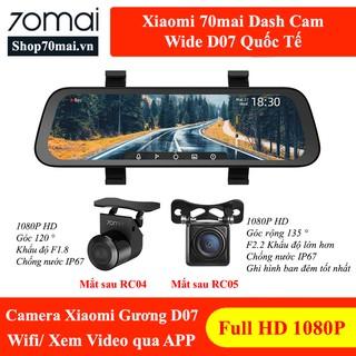 70mai Gương D07 Quốc Tế – Camera hành trình Xiaomi dạng gương