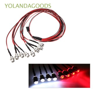 🍊5mm 8 LEDs Cool Fashion White/Red Color Upgrade Parts Power Supply 1/10 LED Light Set