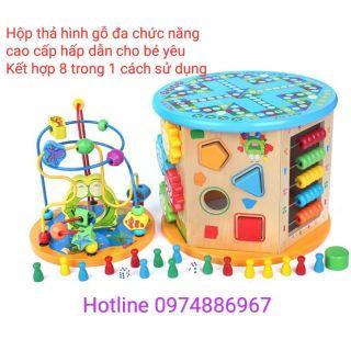 Đồ chơi gỗ 8 Chức năng gỗ thông minh trí tuệ giáo dục cho bé yêu