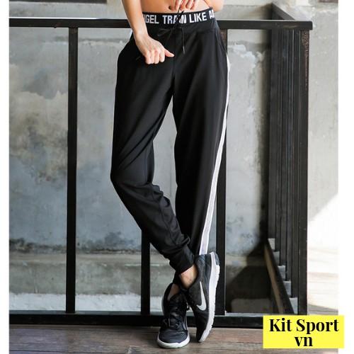 Quần dài Jogger có túi thể thao nữ AAngel (Chất polyester dày) (Đồ Tập Gym,yoga)(Không Áo) - Kit SportVN