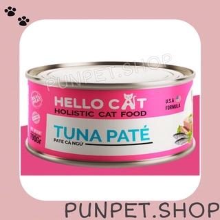 Pate tươi HELLO CAT lon 190gr cho mèo vị cá ngừ - Punpet thumbnail