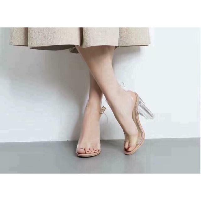 [ RẺ VÔ ĐỊCH] Giày Cao Gót 9p Quai Trong