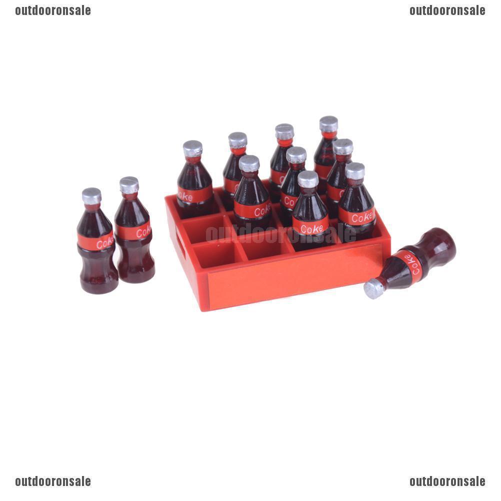 Mô hình khay đồ uống coke 1:12 cho trang trí nhà búp bê
