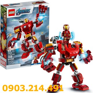 LEGO 76140 Chiến Giáp Người Sắt (148 Chi Tiết) – Đồ Chơi LEGO Marvel Super Heroes Chính Hãng Đan Mạch