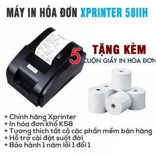 Máy in hóa đơn Xprinter XP 58IIH chính hãng ( tặng kèm 5 cuộn giấy in )