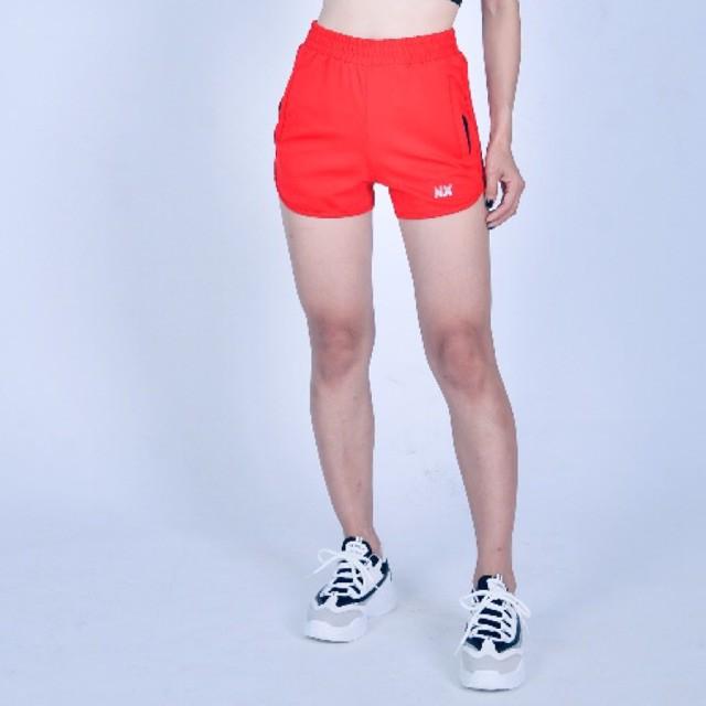 [HOT] Quần tập thể thao nữ chạy bộ Gym boxing thun 4 chiều đỏ tươi cao cấp