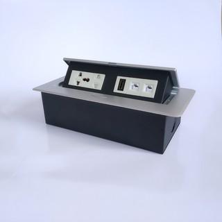 Ổ cắm điện âm bàn đa kết nối – (1 ổ cắm 3 chân, 1 ổ cắm 2 chân, HDMI, LAN, điện thoại.)
