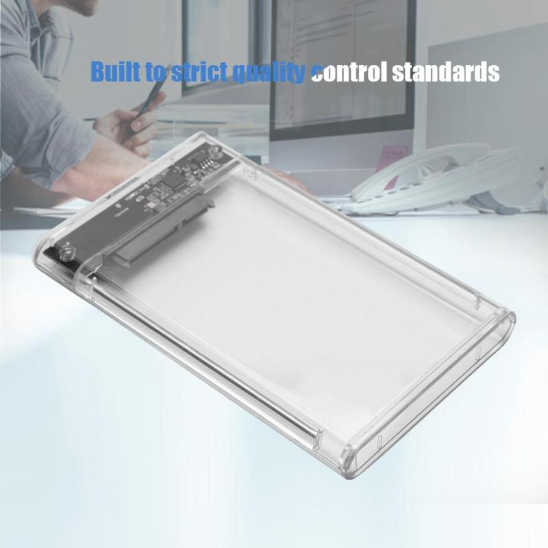 23S93-RTK Portable Transparent 6Gbps USB3.0 Hard Disk Box for 2.5inch 7-9.5mm SATA HDD/SSD