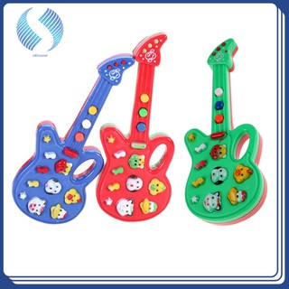 Chinatera Foxy Electronic Guitar Rhyme Developmental Music Sound Toy Baby Kids Multi-function Toy