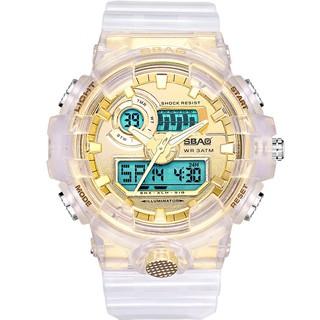 Đồng Hồ Nam SBAO S8018nam trắng vàng Sports - 2 Máy Kim và Điện Tử Mạnh Mẽ Dây Silico thumbnail
