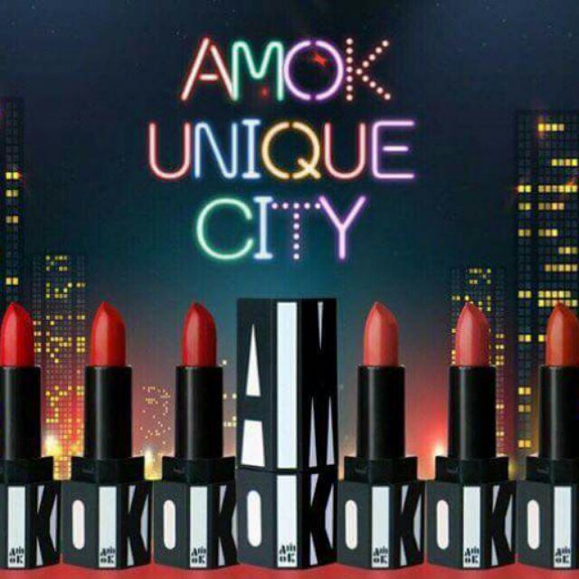 ??Son thỏi lì Amok Unique City technical matte lipstick