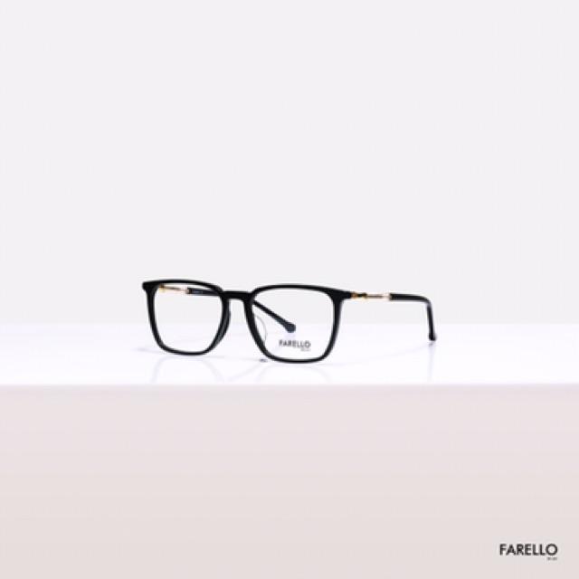 [Freeship] Gọng kính mắt vuông chất liệu nhựa acetate phối kim loại thời trang nam nữ