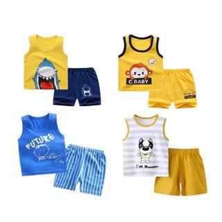 [Mã KIDMALL12 hoàn 15% xu đơn 150K] Set bộ quần áo ba lỗ cho bé trai bé gái (từ 1 - 8 tuổi) VEMZKIDS 7 mẫu hè thumbnail