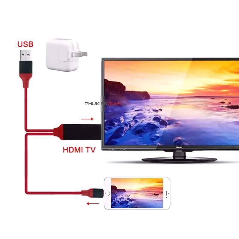 Cáp HDMI kết với Iphone/iPad với Tivi