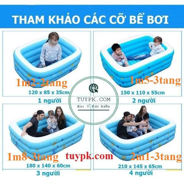HÀNG ĐẸP- Bể bơi phao bơi 💖FREESHIP💖 Bể bơi phao – 1m2 2 tầng (TẶNG BỘ VÁ PHAO)- hàng loại 1