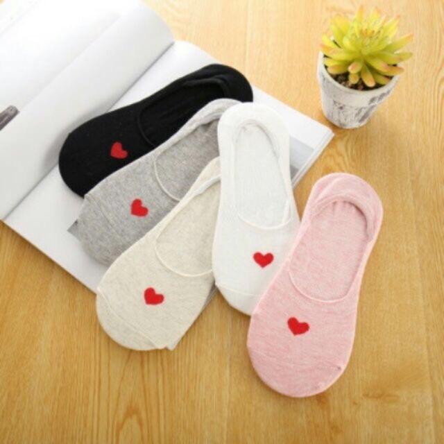 Combo 10 đôi tất lười tim phong cách Hàn quốc