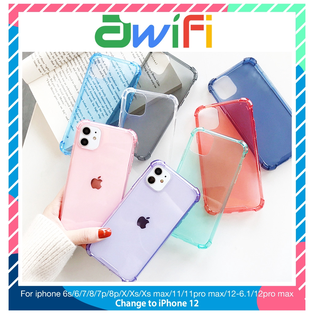 Ốp lưng iphone chống sock va đập 5/5s/6/6plus/6s/6splus/7/7plus/8/8plus/x/xr/xs/11/12/pro/max/plus/promax - Awifi B1-1