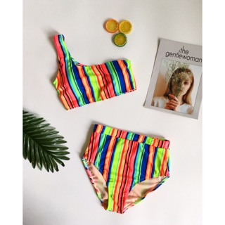 Bikini sọc 7 màu siêu nổi bật