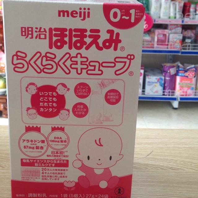 Sữa bột Meiji thanh 0-1 648G hàng nội địa