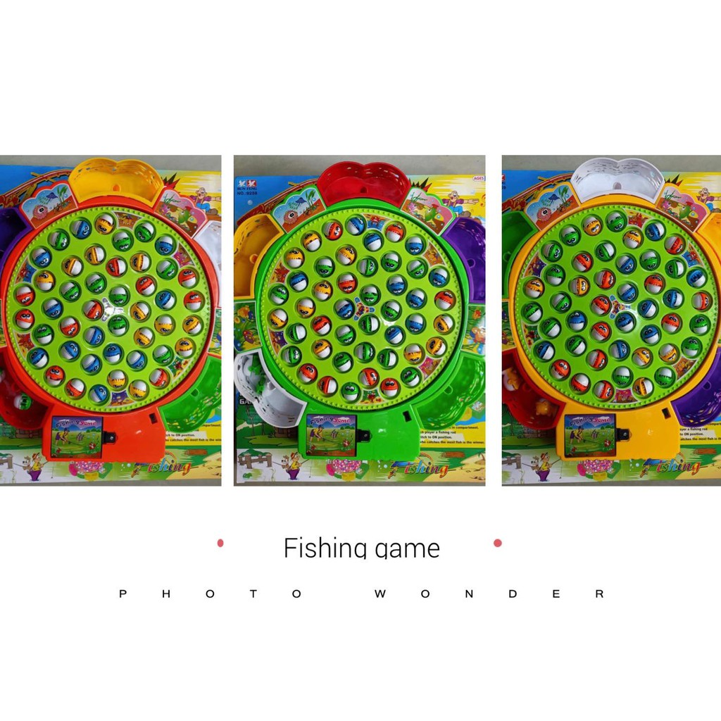 9259 – Đồ chơi câu cá kích cỡ to 5 cần câu 45 con cá lắp pin phát nhạc .