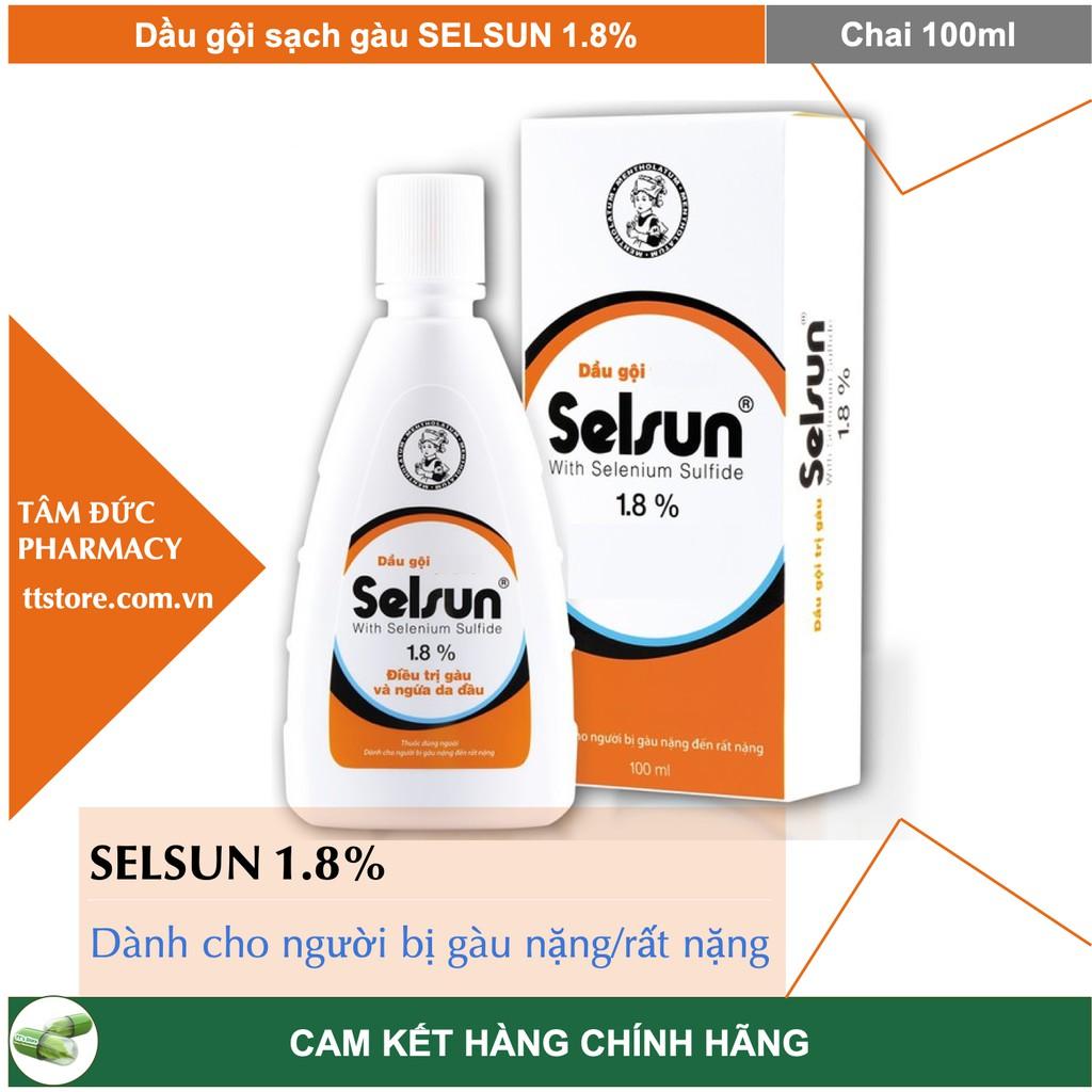 DẦU GỘI SELSUN 1.8% - Dầu gội trị gàu Selsun 1,8% 100Ml