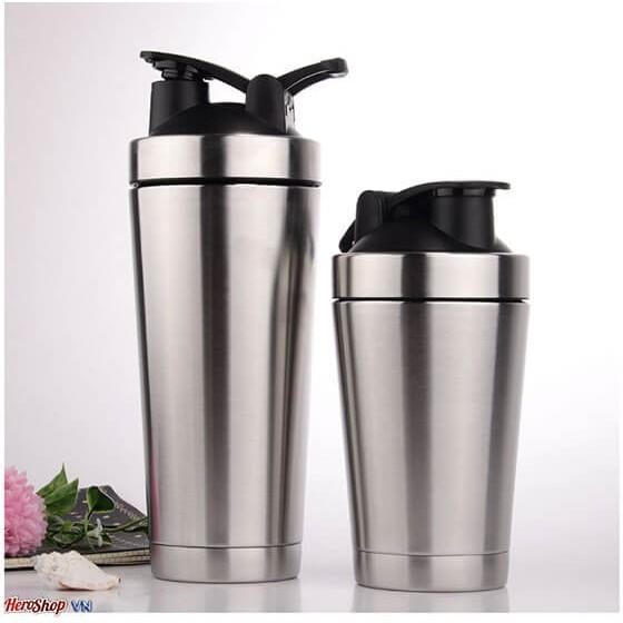 Bình Lắc Inox 304 Giữ Nhiệt 700ml Không Gỉ Pha Sữa , Trà Sữa , Nước Ép