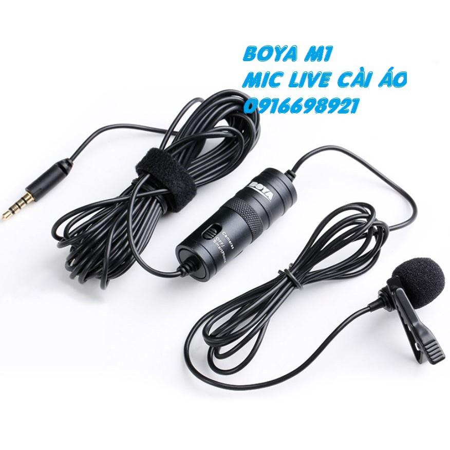 Micro mic Ghi Âm Cài Áo Boya BY M1 KÈM PIN EDIT VIDEO CHUYÊN NGHIỆP