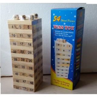 Đồ chơi rút gỗ 54 thanh, Đồ chơi thích hợp với mọi lứa tuổi