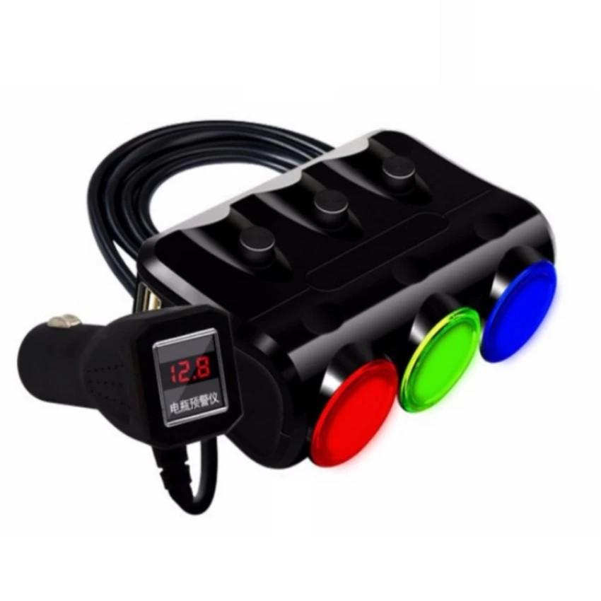 Bộ chia tẩu sạc oto, xe hơi cao cấp 3 tẩu - 2 cổng USB HYUNDAI có LED ( Đen ) - 3019401 , 746388384 , 322_746388384 , 140000 , Bo-chia-tau-sac-oto-xe-hoi-cao-cap-3-tau-2-cong-USB-HYUNDAI-co-LED-Den--322_746388384 , shopee.vn , Bộ chia tẩu sạc oto, xe hơi cao cấp 3 tẩu - 2 cổng USB HYUNDAI có LED ( Đen )