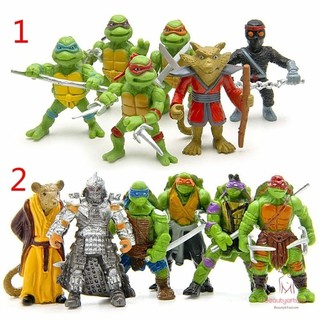 6pcs/lot Teenage Mutant Ninja Turtles TMNT Mini Figures Action Figures Toy Juguetes 1998 Set