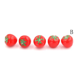 $VN 5Pcs Resin Fruit Vegetables Kawaii DIY Resin Craft Decoration Miniature Toys ZNS 1126