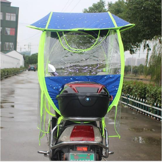 mái che xe máy có màn chắn hai bên, mái che xe máy