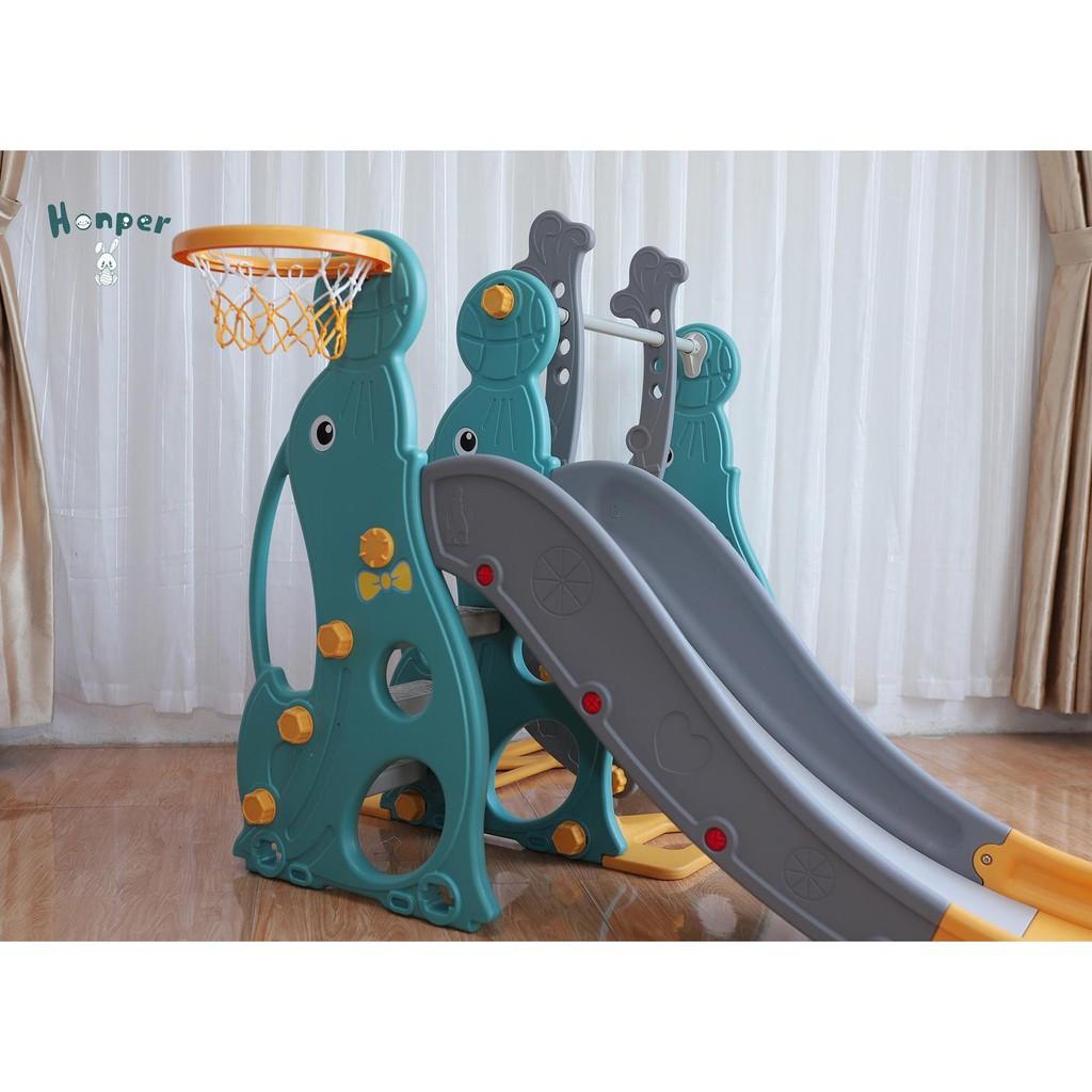 Cầu trượt cho bé  𝑭𝒓𝒆𝒆𝒔𝒉𝒊𝒑  Cầu trượt xích đu hải cẩu 9BABY cho bé màu xanh lá