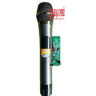 Micro không dây đơn UHF loa kéo mạch loa kéo - SET tần số - thân nhôm - phím bấm, micro cho loa kéo