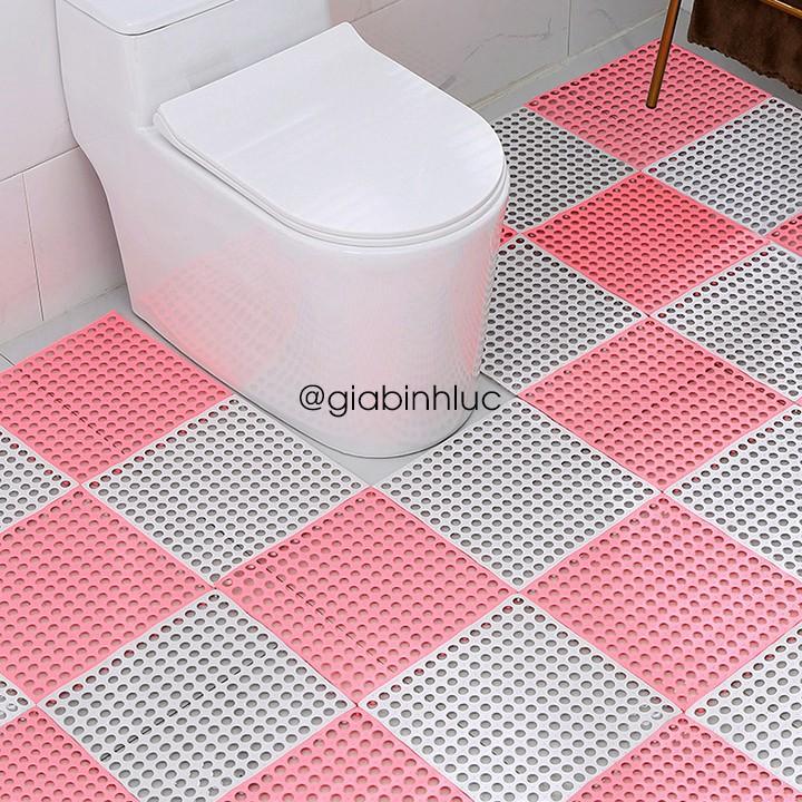 Thảm nhựa lót sàn chống trơn trượt nhà tắm an toàn cho bé giá rẻ kt 30x30cm cực kỳ êm chân