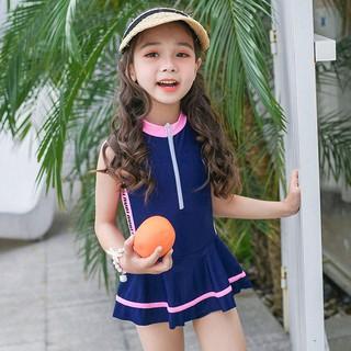 Bộ bơi sát nách liền chân váy bé gái (2-8 tuổi)