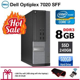 Case máy tính để bàn Dell Optiplex 7020 SFF CPU intel core i7 4770, Ram 8GB, Ổ cứng SSD 240GB,HDD 500GB. Bảo hành 2 năm. thumbnail