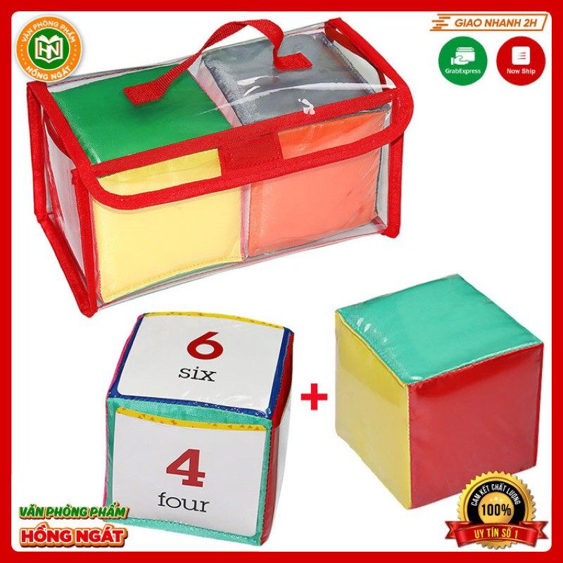 Xúc Xắc Cài Thẻ🎲10 x 10cm🎲đồ dùng giáo cụ dạy học trong các hoạt động trò chơi phục vụ cho học tập của giáo viên