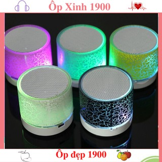 Loa Bluetooth Mini Đèn LED Nhấp Nháy - Đủ Màu - Hỗ Trợ USB/FM/Thẻ nhớ TF/bluetooth