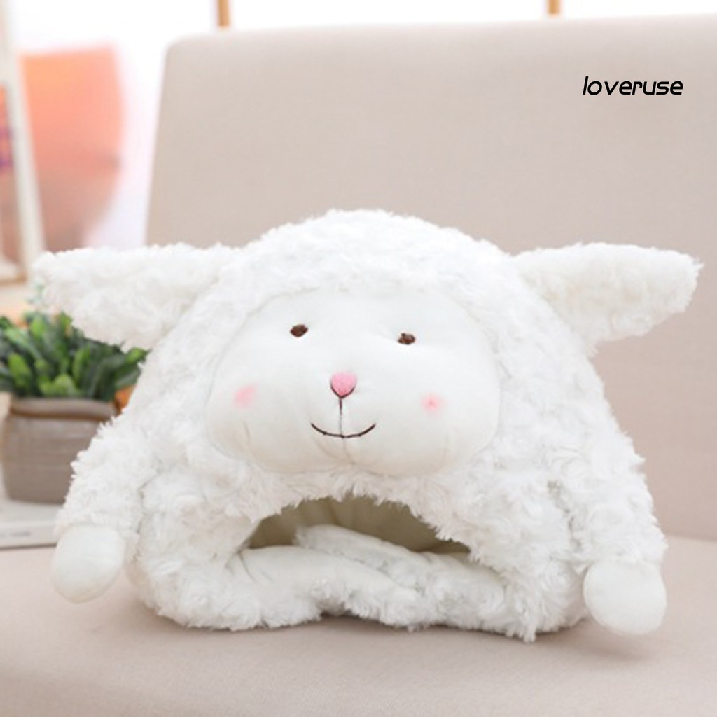 Mũ Hình Cừu Nhồi Bông Dễ Thương Dành Cho Chụp Hình