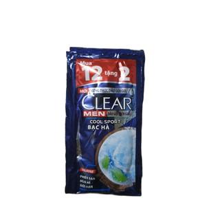 12 gói Dầu Gội Clear hoặc Clear Men Bạc Hà Mát Lạnh ( 6g gói 12) thumbnail