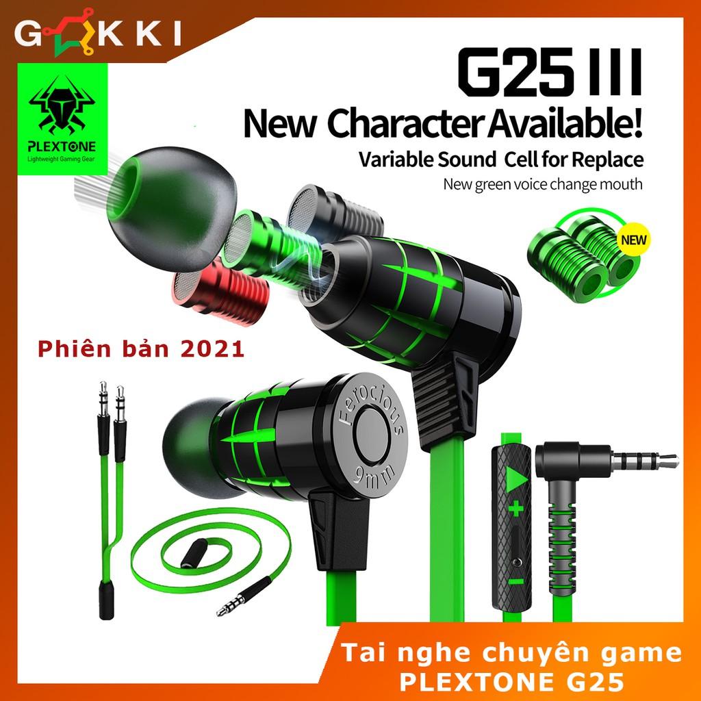 Tai nghe gaming nhét tai - Plextone G25 - Bass sâu-Âm thanh cực chất-Chính hãng - Tai nghe gaming cho điện thoại