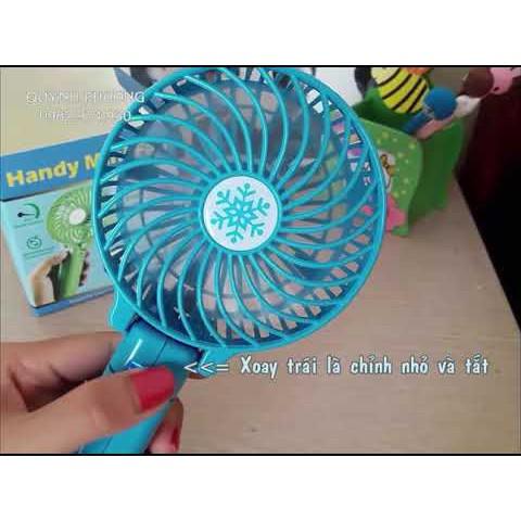 Sỉ 1-2-3 quạt tích điện cầm tay mini fan gấp gọn thông minh