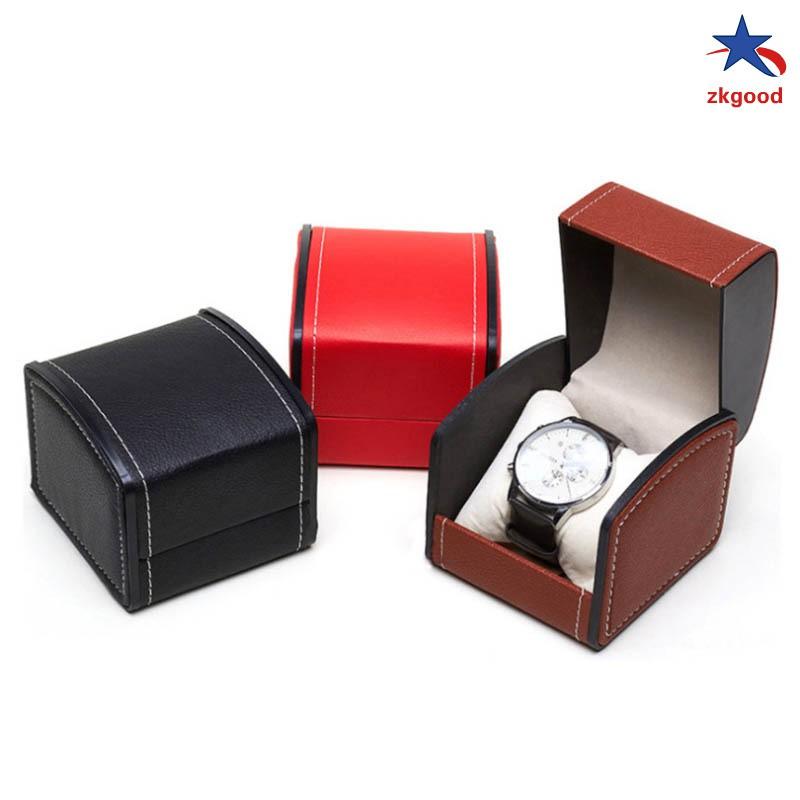 Single Grid Slot PU Leather Watch Display Case Organizer Gift Box Wrist Watch Storage Box