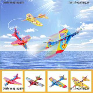 WY Flying Back Magic Swing Plane 360 Cyclotron Airplane Kids DIY Model Gift Toys NN