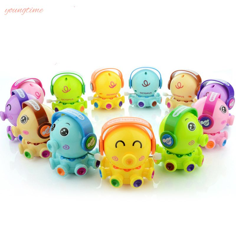 youngtime Cute Animal Octopus Action Figures Rotation Wind Up Cartoon Toy Cute Educational Toy youngtime