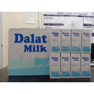 1 thùng sữa tươi không đường 180ml của đà lạt milk