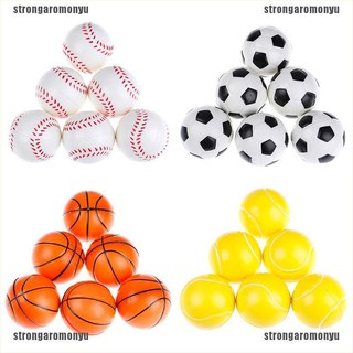 【STR】6Pcs 6.3Cm Childrens Vent Balls Soccer Stress Balls For Stress Relief