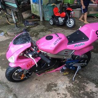 Xe moto mini tam mao bản có đèn feeship 100%