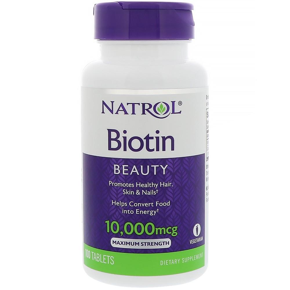 Natrol Biotin 10000 mcg mẫu 2017 hỗ trợ mọc tóc, giúp móng chắc khỏe của Mỹ